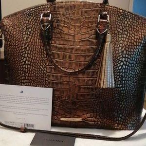 Handbags - Brahmin Satchel Brown Milan